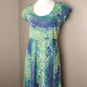 Chaps Maxi Short Sleeve Dress Ladies Medium